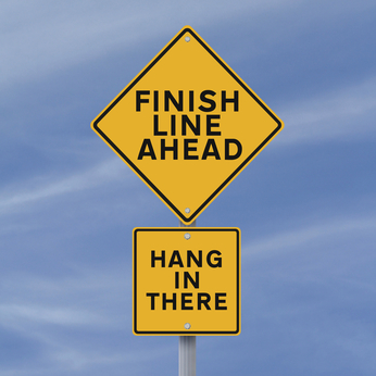 finish line ahead sign