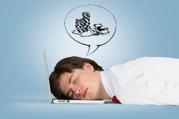 employee dreaming about gambling