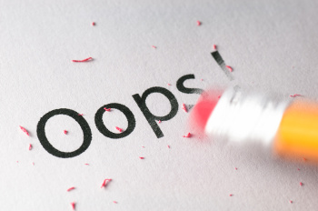 pencil erasing mistake