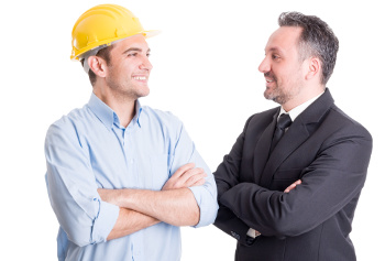 worker and boss talking