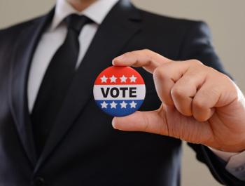 employee with vote pin