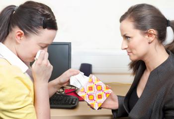 crying employee