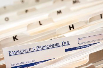 employees' personnel files