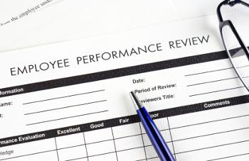 employee performance review document