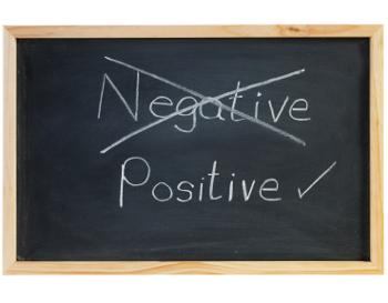 negative to positive on chalkboard
