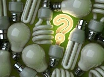 light bulbs and question mark