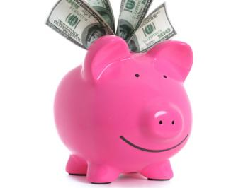 smiling piggy bank