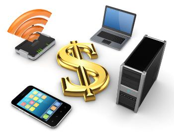 technology and dollar sign