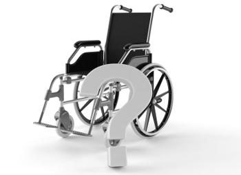 wheelchair and question mark