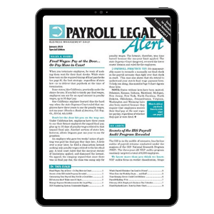 Payroll Legal Alert