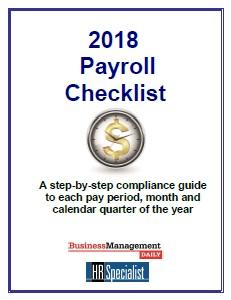 2018 Payroll Checklist