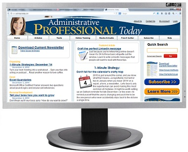 Administrative Professional Today website