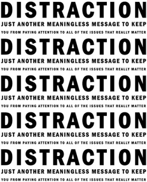 distraction message