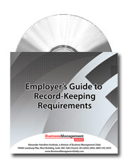 Employer's Guide to Record-Keeping Requirements