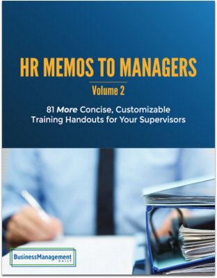 HR Memos to Managers, Vol. 2