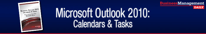 Microsoft Outlook 2010 Calendars & Tasks