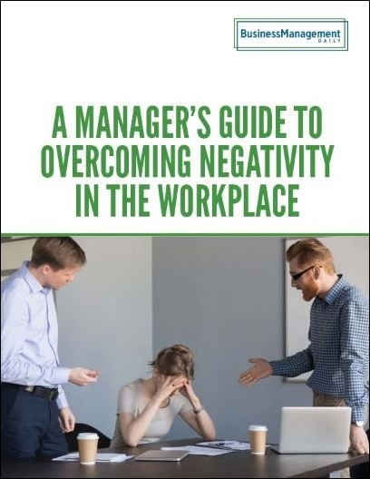 Manager's Guide to Overcoming Negativity in the Workplace