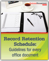 record retention schedule guidelines for every office document