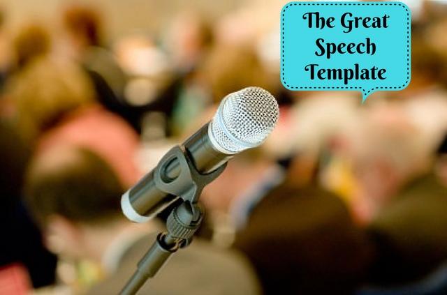 The Great Speech Template