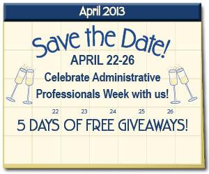 Administrative Professionals Week 2013 calendar