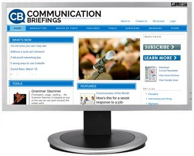Communication Briefings website