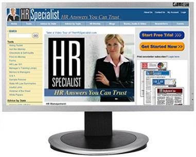 HR Specialist Premium Plus website