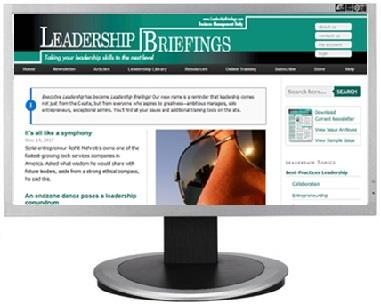 Leadership Briefings website