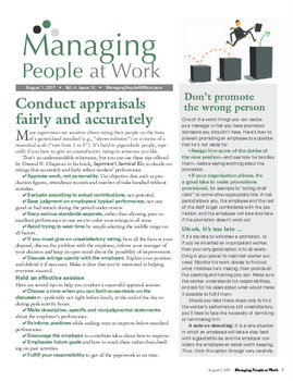 Managing People at Work Newsletter