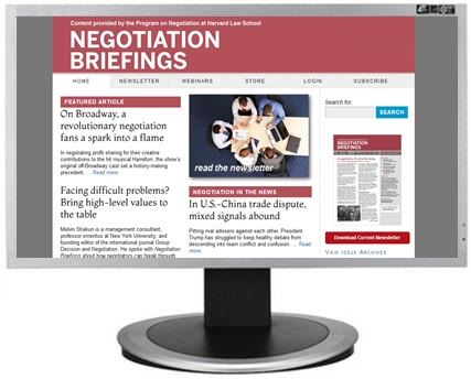 Negotiation Briefings website
