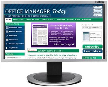 Office Manager Today website