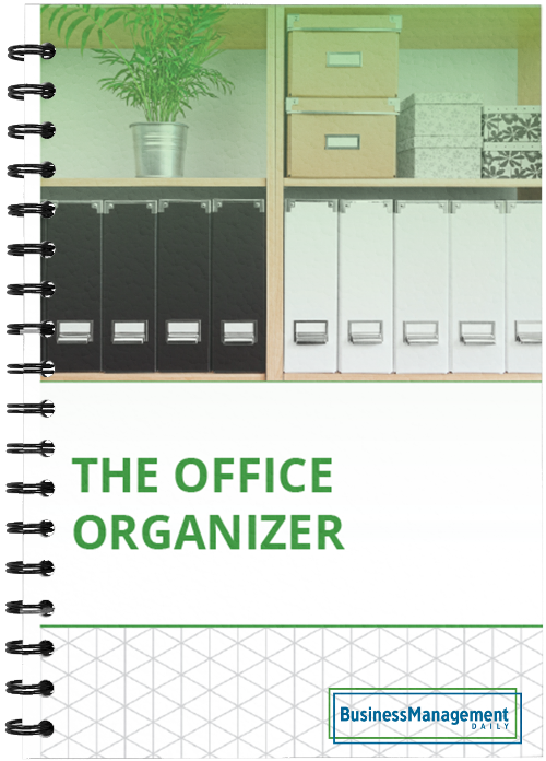 The Office Organizer: 10 tips on file organizing, clutter control, document management, business shredding policy, record retention guidelines and how to organize office emails
