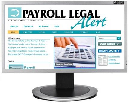 Payroll Legal Alert website