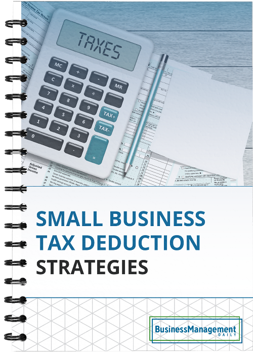 Small Business Tax Deduction Strategies: 13 tips on achieving write-offs through donations, retirement plans, IRA transactions, home sales, business equipment and trusts Free Report
