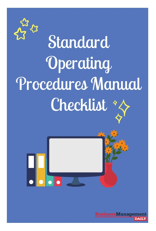 Standard Operating Procedures Manual Checklist