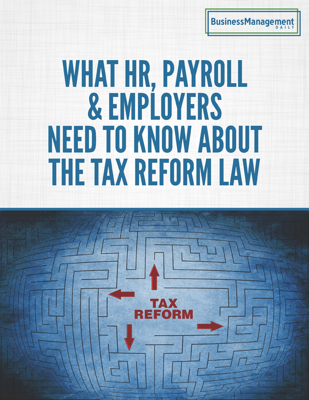 What HR, Payroll & Employers Need to Know About Tax Reform