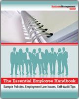 Free reports business management daily for Free employee handbook template for small business
