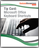 Tip Card: Microsoft Office Keyboard Shortcuts