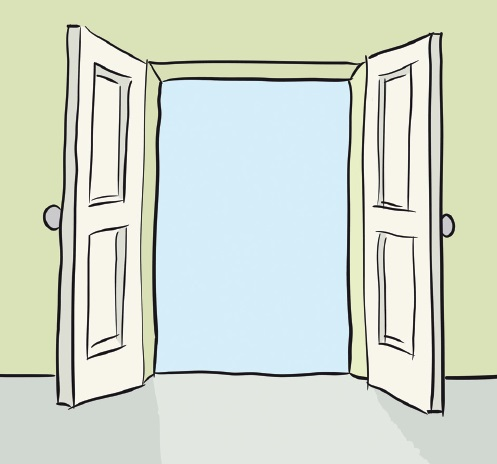 the surge how to open employee door
