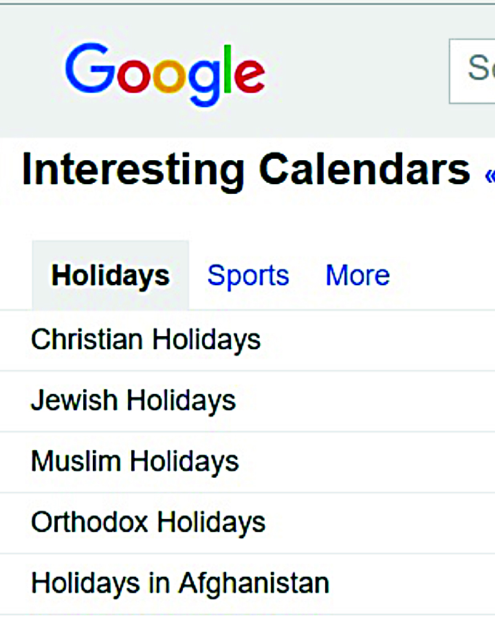 Browse interesting calendars