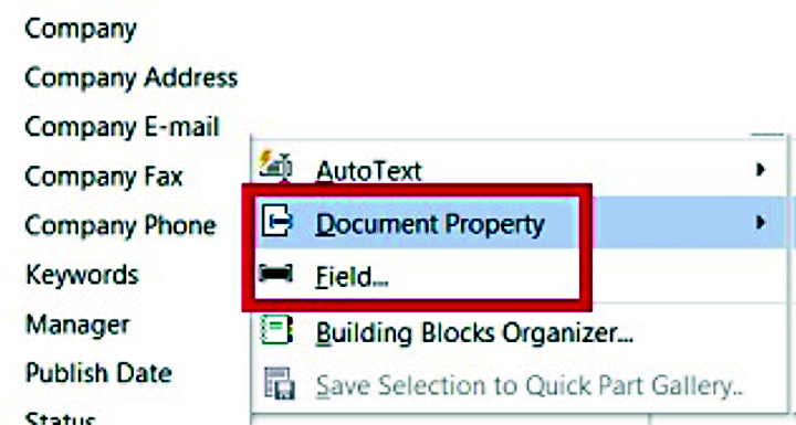 Document property