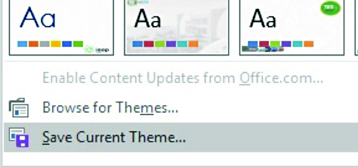 Save current theme