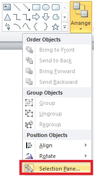 PowerPoint selection pane