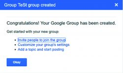 Google Group has been created