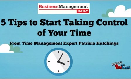 5 tips to start taking control of your time