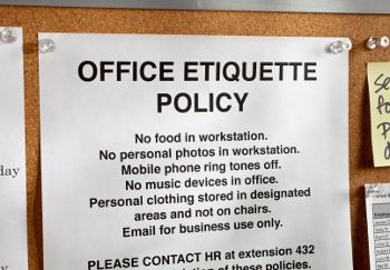 picture of office etiquette policy