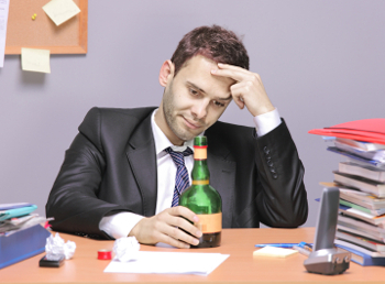 drunk employee