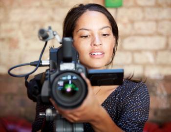 employee filming video