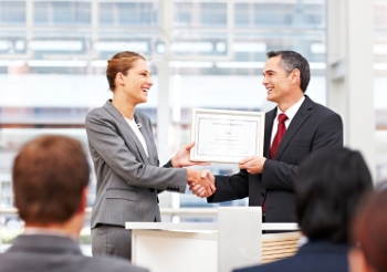 employee winning award