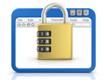 padlock and browser