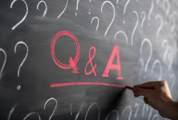 Q&A chalkboard